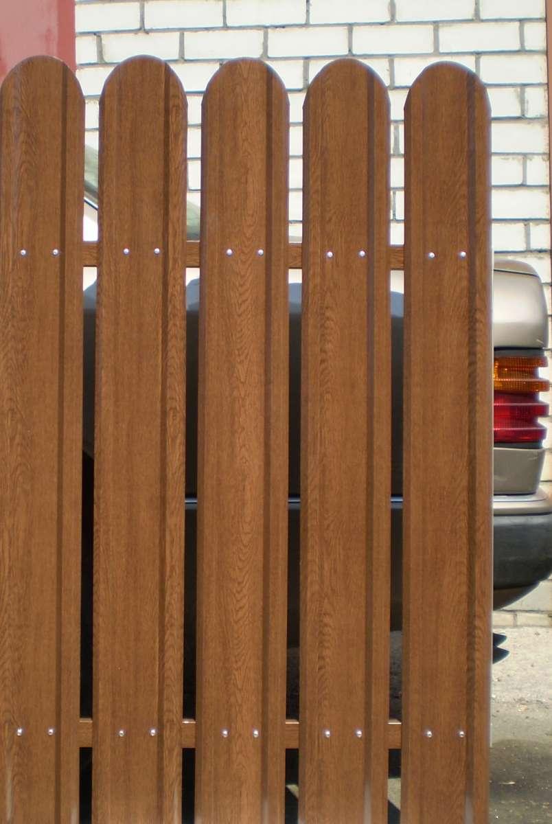 Евроштакетный забор металлический