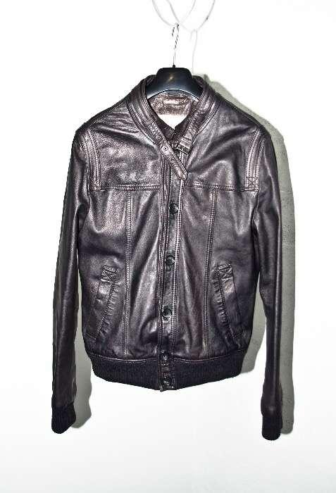 Куртка D&G кожаная бомбер оригинал размер 48 М