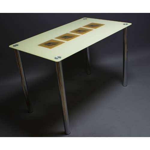 Стеклянный обеденный стол Вихрь