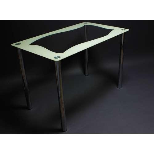 Стеклянный обеденный стол Волна