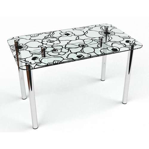 Стеклянный обеденный стол Грация S-2