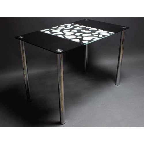 Стеклянный обеденный стол Долматинец
