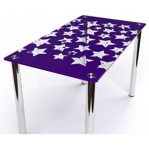 Стеклянный обеденный стол Звезды