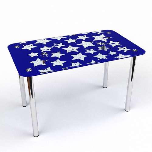 Стеклянный обеденный стол Звезды S-2