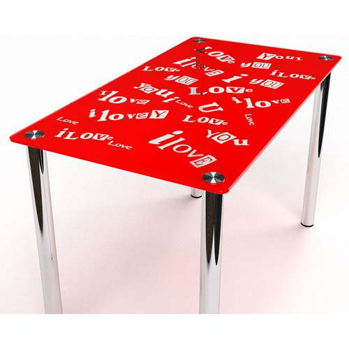 Стеклянный обеденный стол Мия
