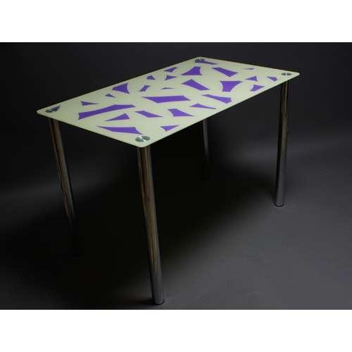 Стеклянный обеденный стол Осколки