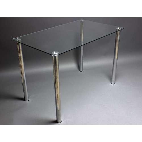 Стеклянный обеденный стол Прозрачный