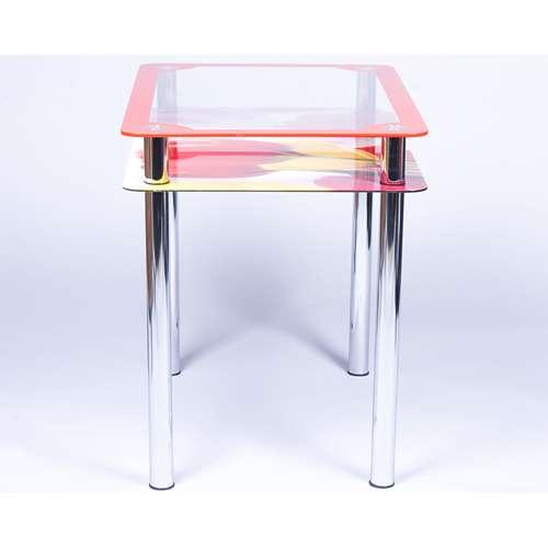 Стеклянный обеденный стол Рамка-фотопечать