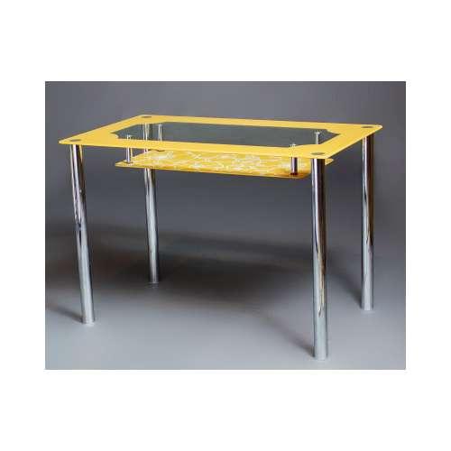 Стеклянный обеденный стол Улыбка