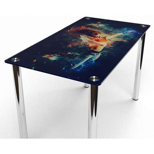 Стеклянный обеденный стол Фотопечать
