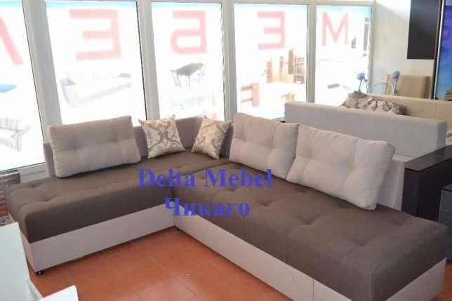Поворотный угловой диван от производителя Delta Mebel  Источник: https