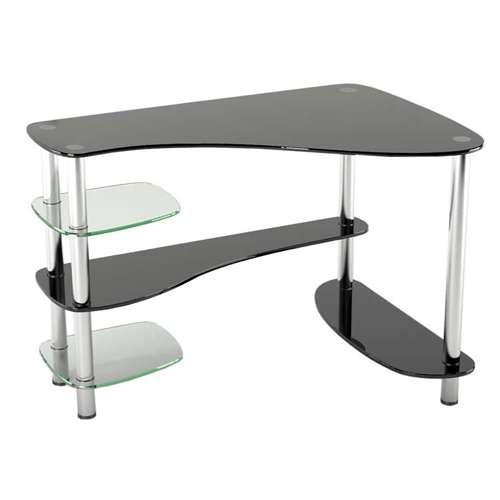 Стеклянный компьютерный стол P-7