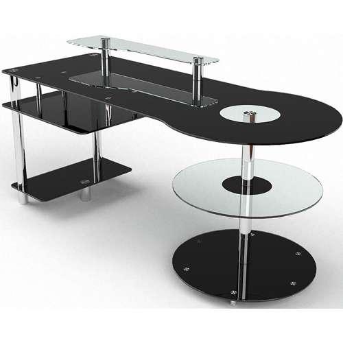 Стеклянный компьютерный стол Комфорт