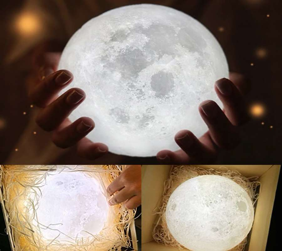 Ночник Луна.Сделан на 3D принтере! Оригинал.Декоративная LED лампа!