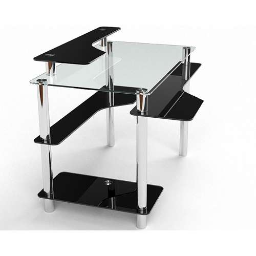 Стеклянный компьютерный стол Хардвик