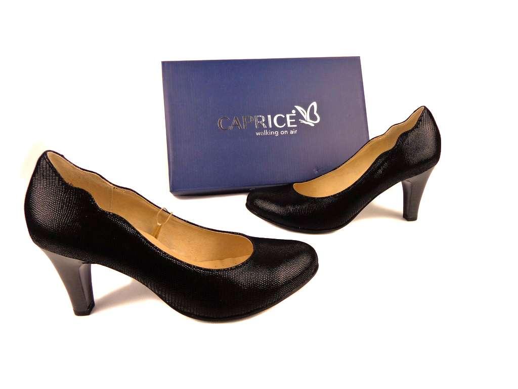 Кожаные туфли с лазерным принтом, ТМ Caprice- Германия, возможна приме