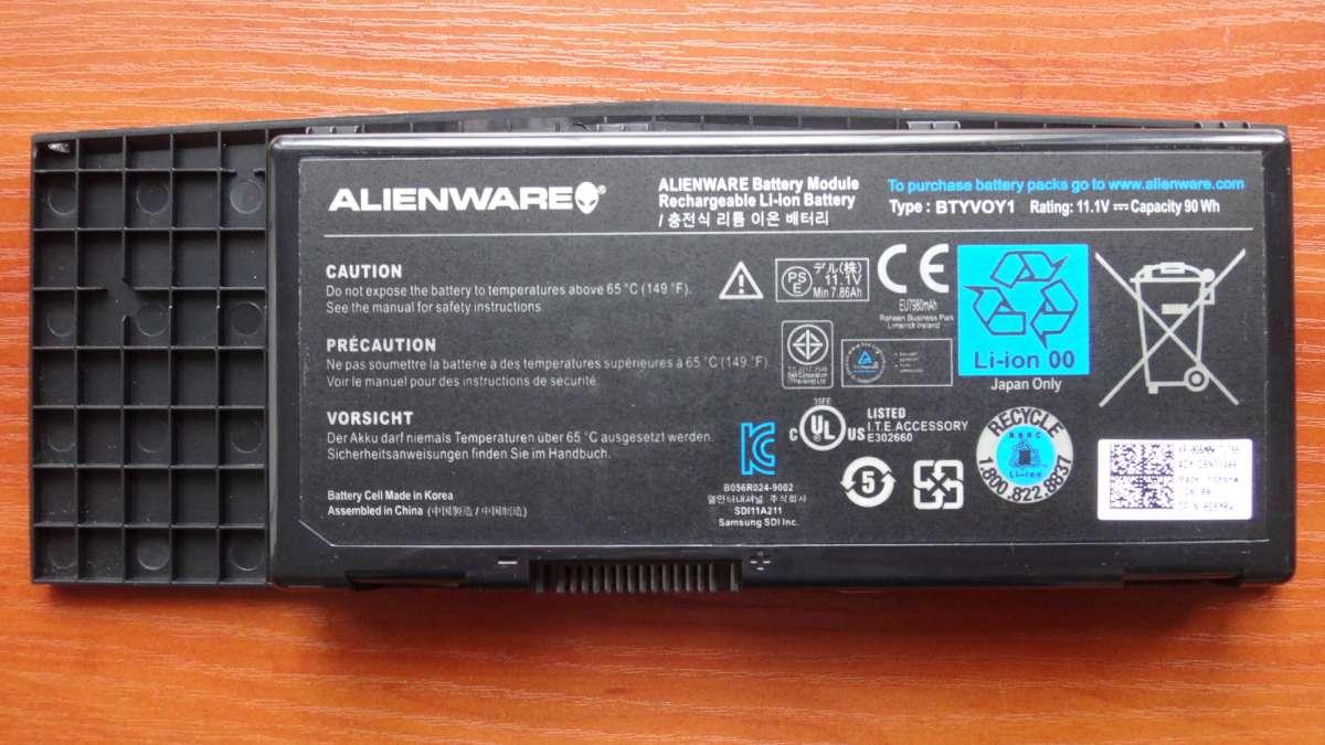 Оригинальный аккумулятор / батарея Dell BTYVOY1 Alienware M17x 8100mAh
