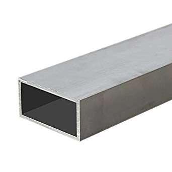 Труба алюминиевая профильная 6060 Т6 квадратная и прямоугольная