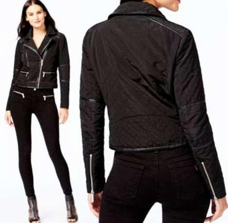 """Куртка """"мото"""" Michael Kors, косуха, стеганая, с отделкой размеры S и L"""