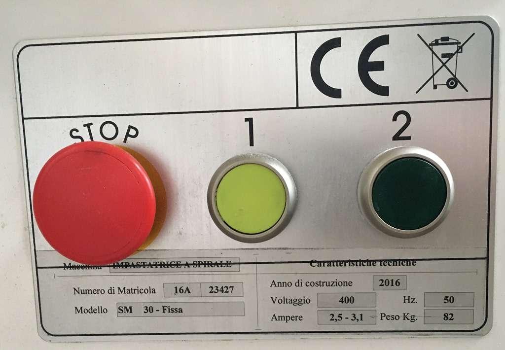 Тестомес б/у Alimacchine sm 30 ft 2v