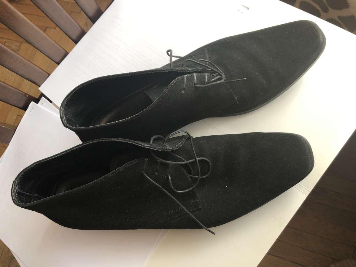 Туфли мужски замшевые PRADA оригинал 44 размер