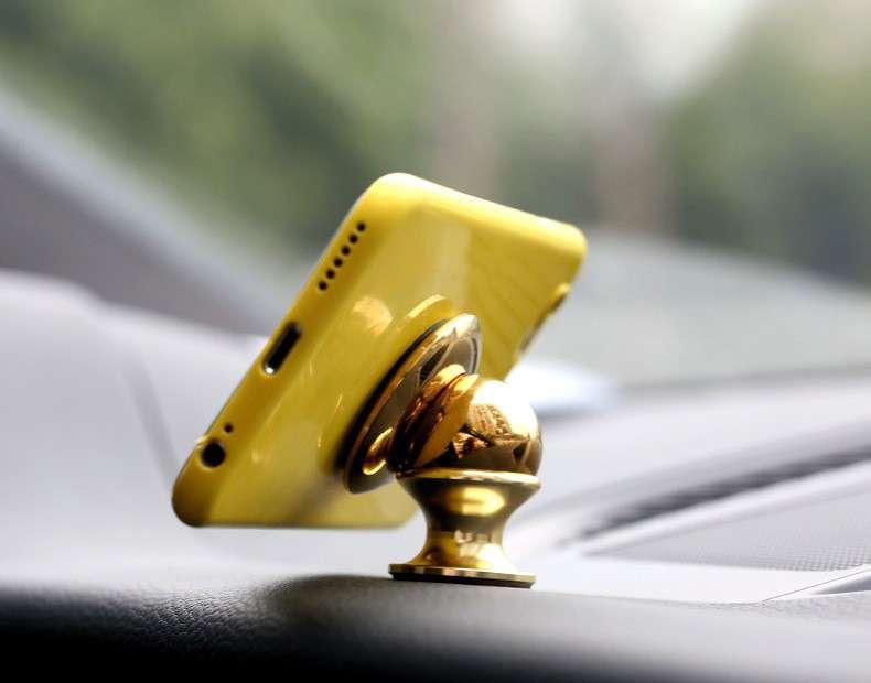 Магнитный держатель для телефона, планшета, навигатора в авто. 360
