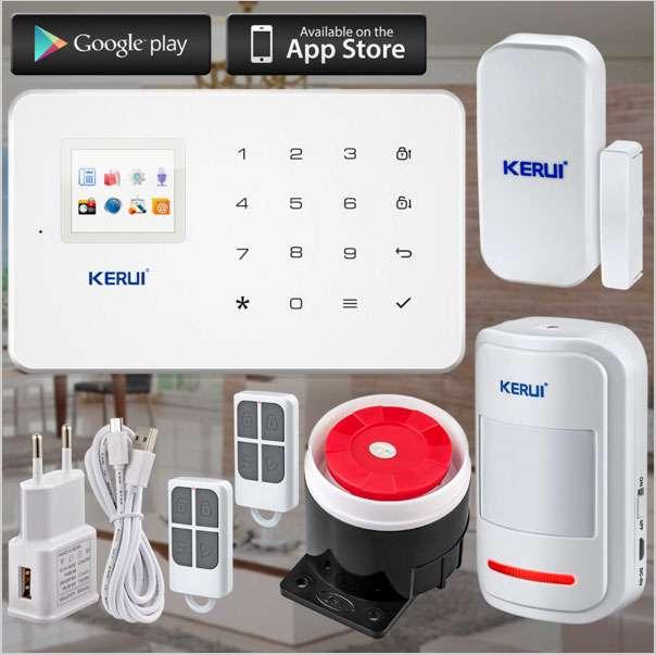 GSM сигнализация KERUI G18 + дополнительные датчики и брелки русская
