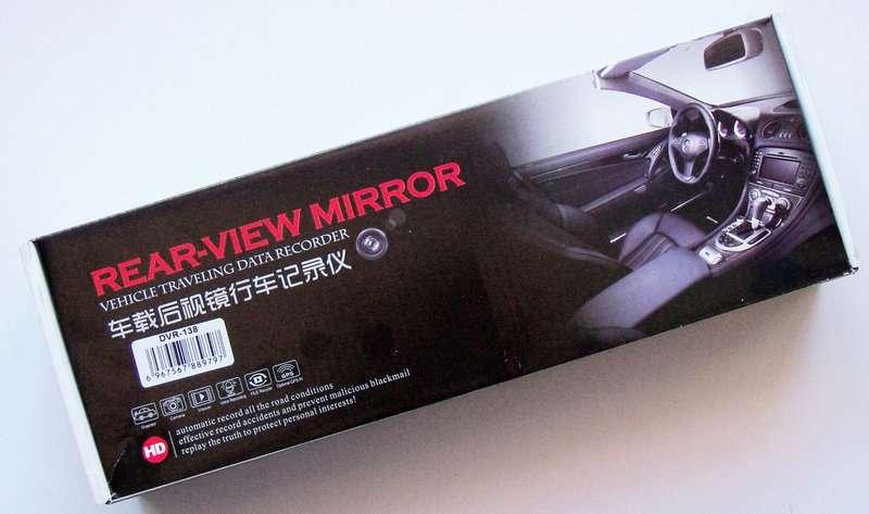 Видеорегистратор зеркало DVR 138E
