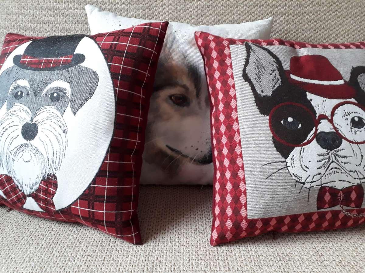 Подушки с собаками handmade