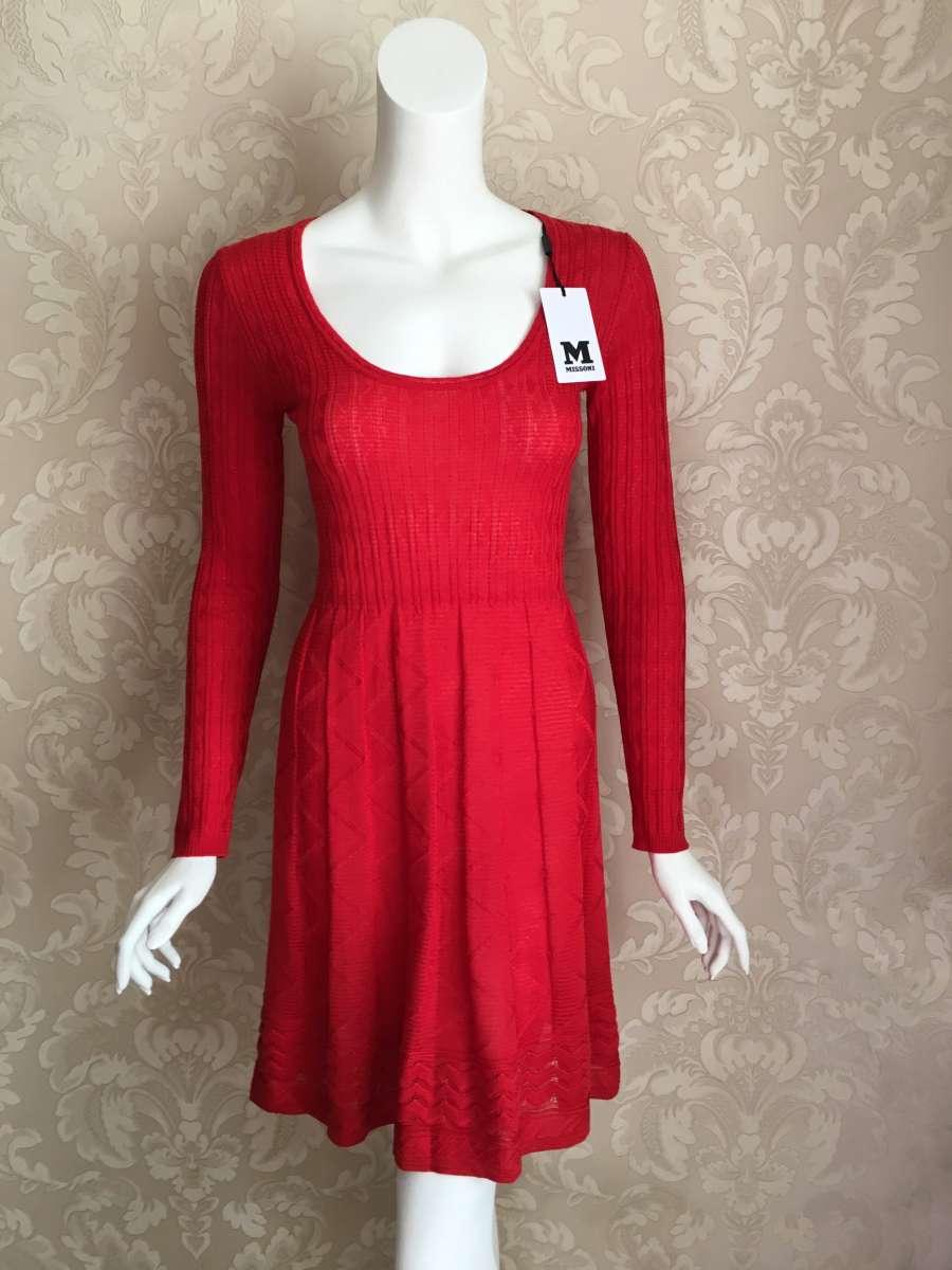 Missoni оригинал Италия красное дизайнерское платье
