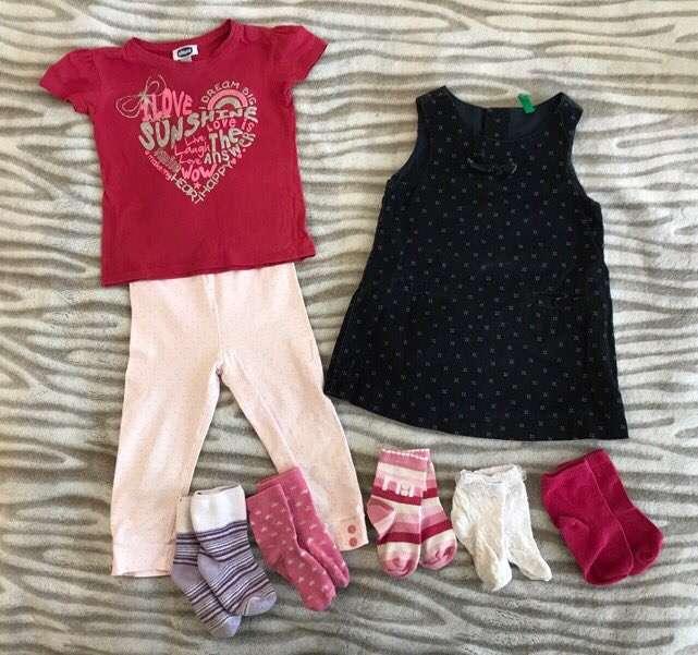 Пакет вещей на девочку, рост 80-86 см