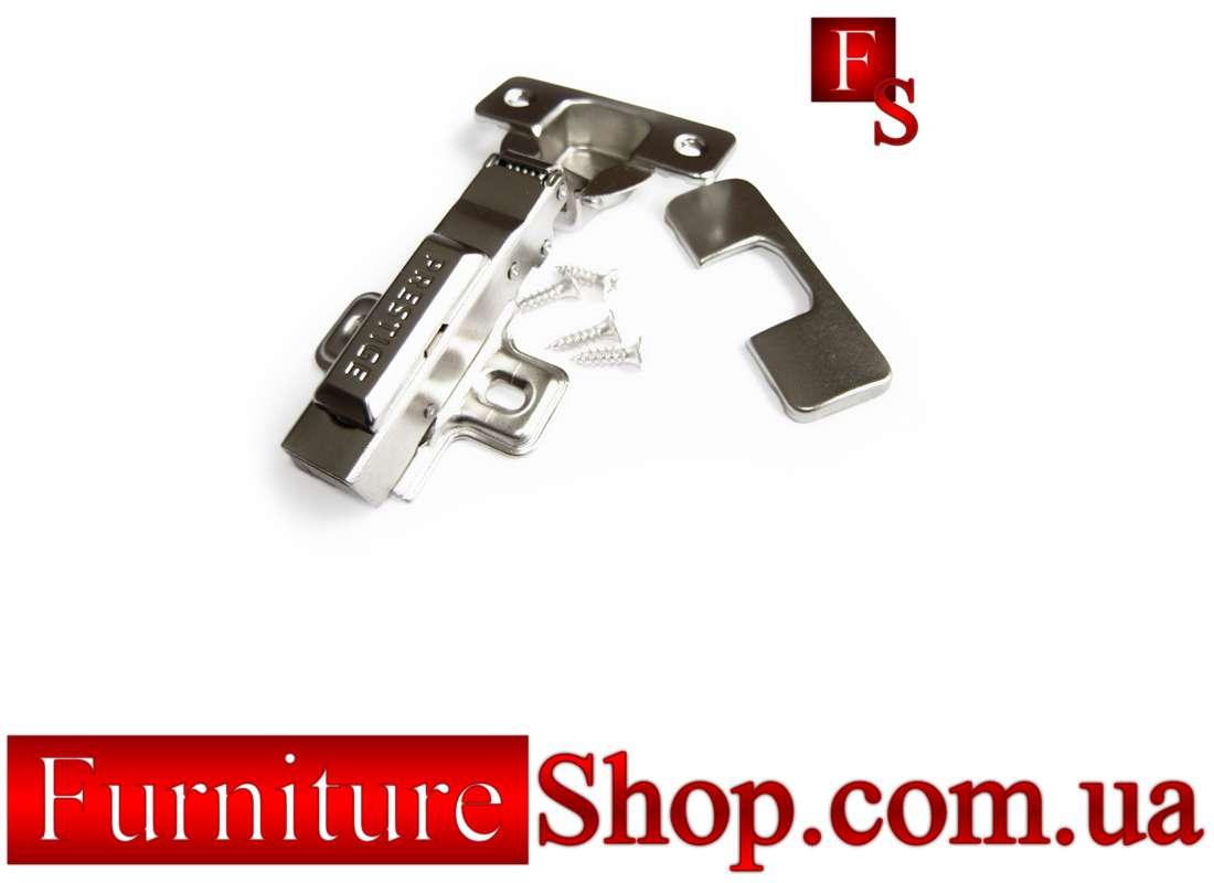 Петля меблева накладна 35 мм з доводчиком / Петля мебельная накладная