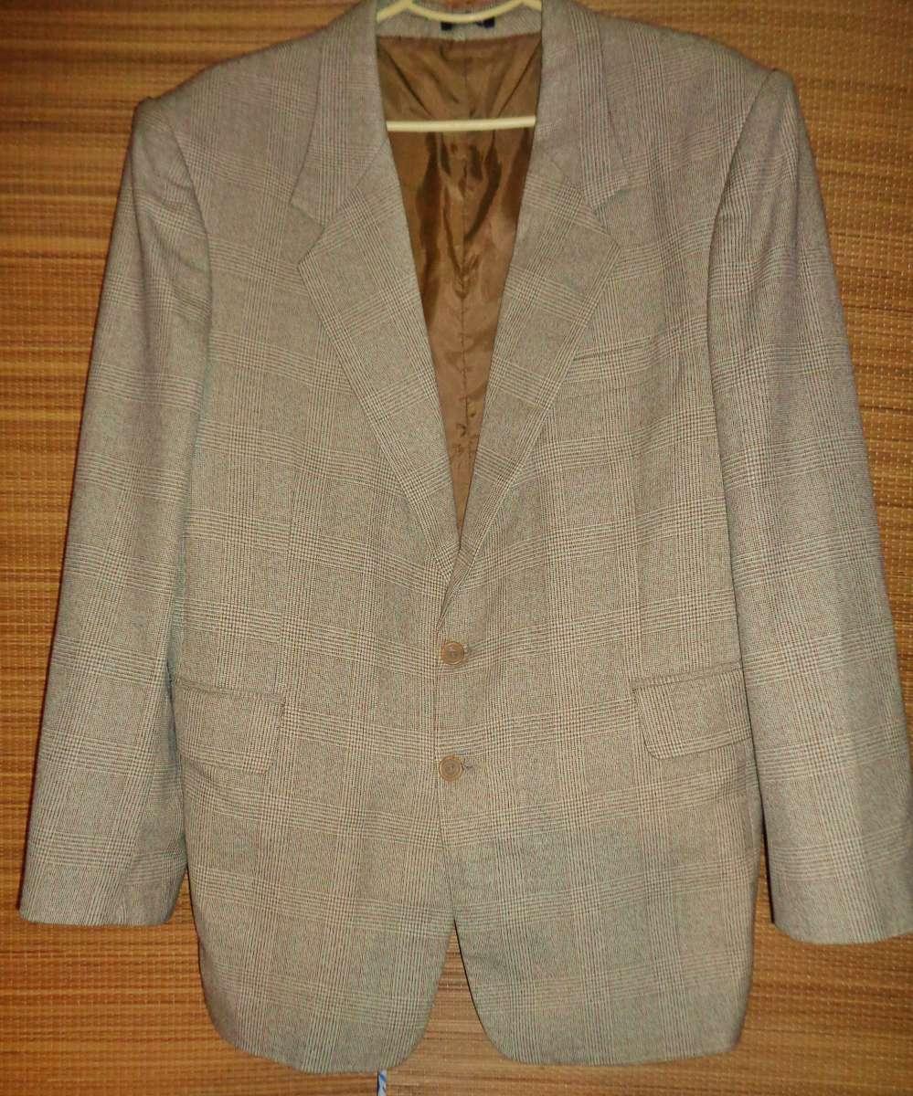 Хороший пиджак блейзер бежевый летний клетка