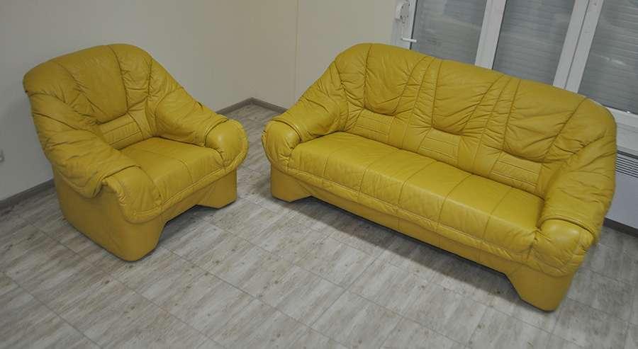 Кожаный диван, гарнитур, комплект! Идеальный из Германии!