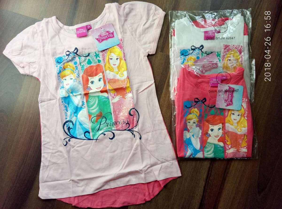 Красивая футболка для девочек Принцессы Дисней