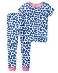 Пижама для девочки Carters Картерс сердечки от 3 до 8 лет
