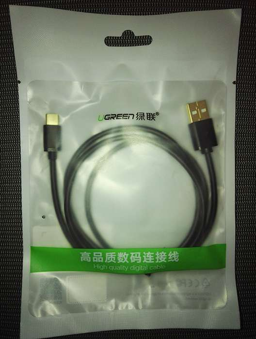 Качественный кабель UGREEN USB - USB-C, 1м, 2,4 А