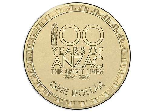 Австралия-1 доллар (2017) '100 лет ANZAC' UNC
