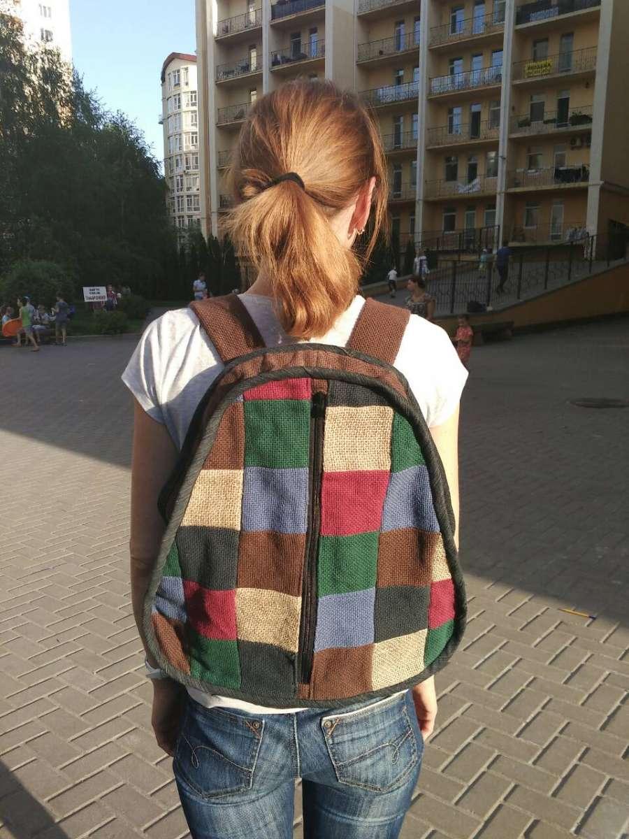 Рюкзак клетка hand made