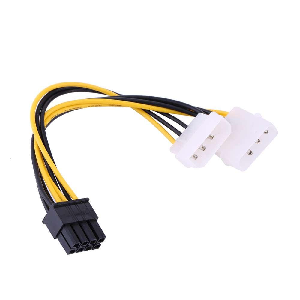 Кабель питания для видеокарт 8 pin PCI-E to 2x Molex, 14 см