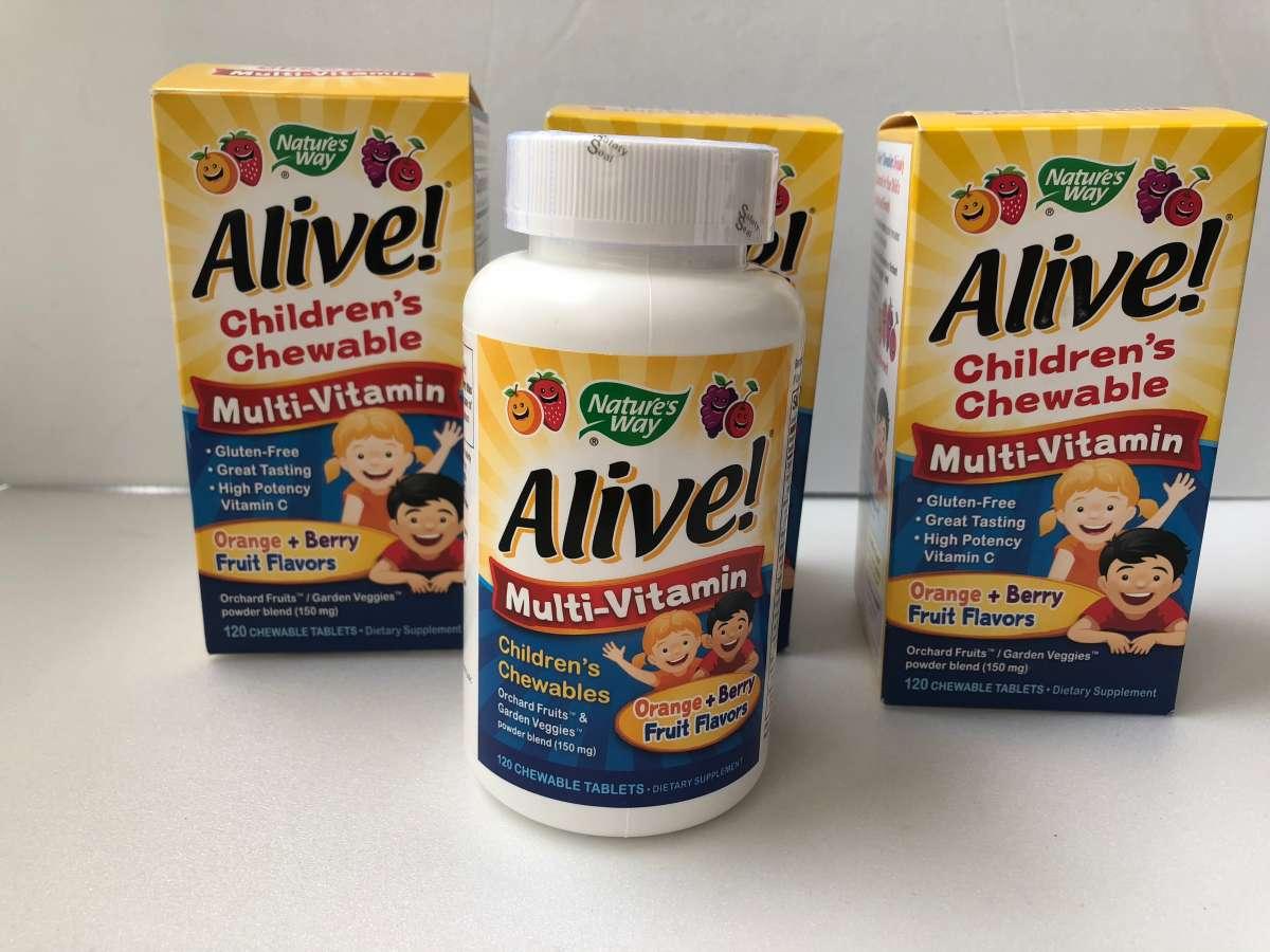 Nature's Way, Alive! Детские жевательные мультивитамины, США