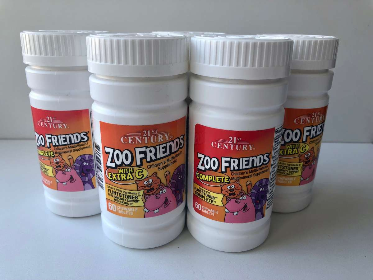 21st Century, Zoo Friends детские витамины, США