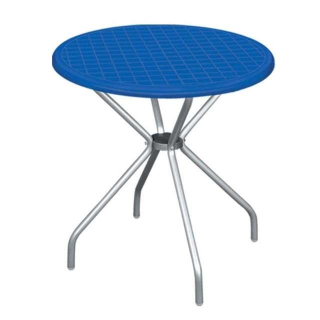 Круглый стол с алюминиевыми ножками