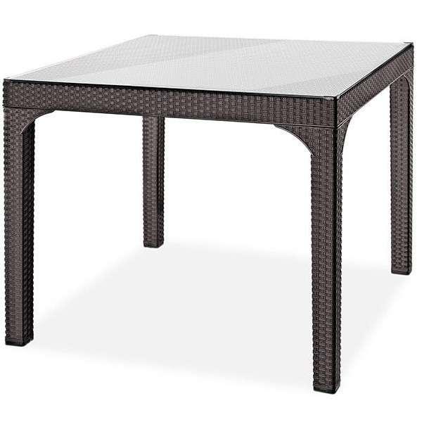 Ротанговый стол + стекло Comfort