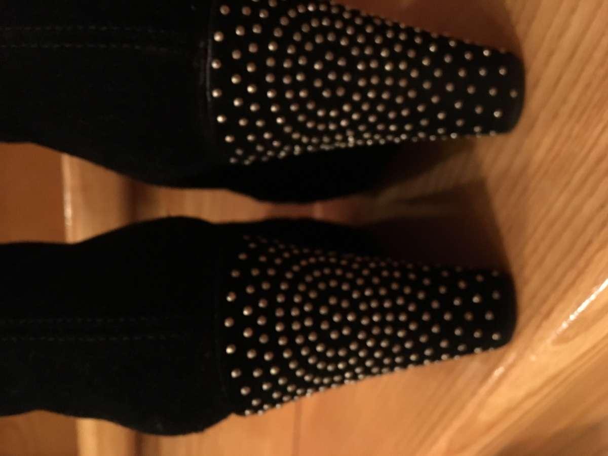 Продам ботинки Италия чёрный замш