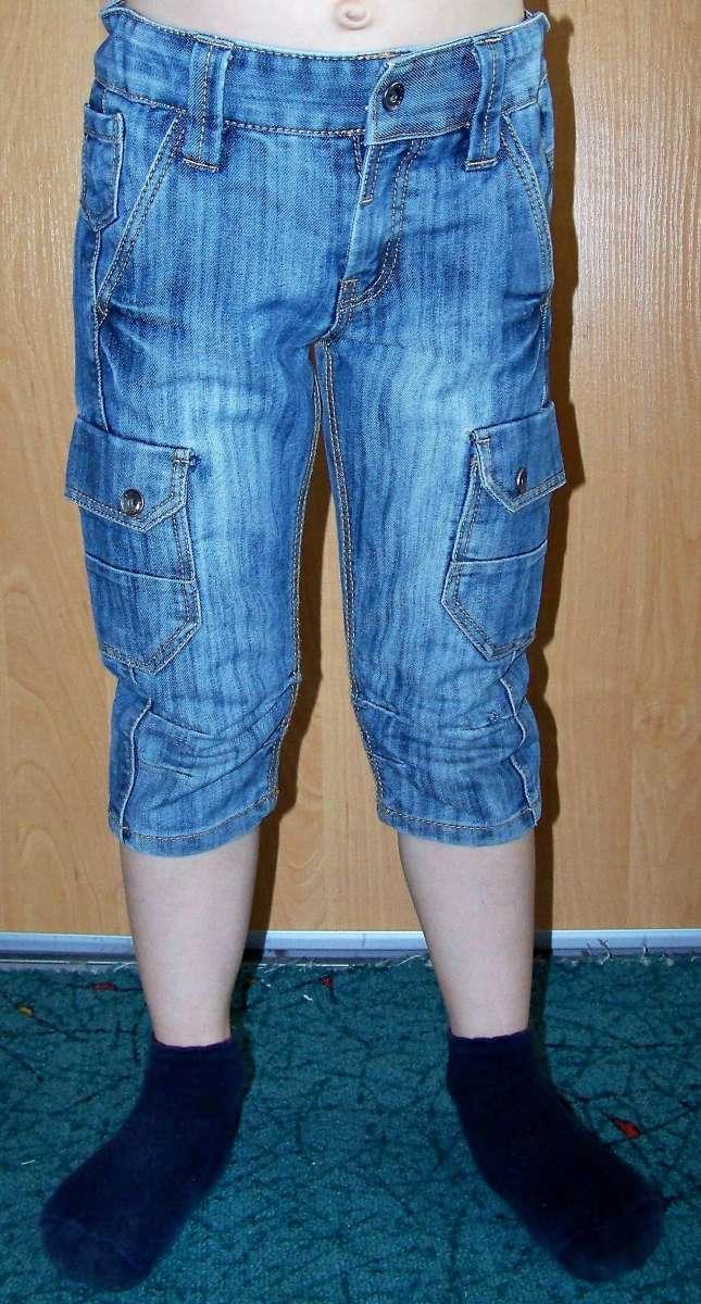 Шорты джинсовые удлиненные OKAIDI (Франция) 4 года/102см