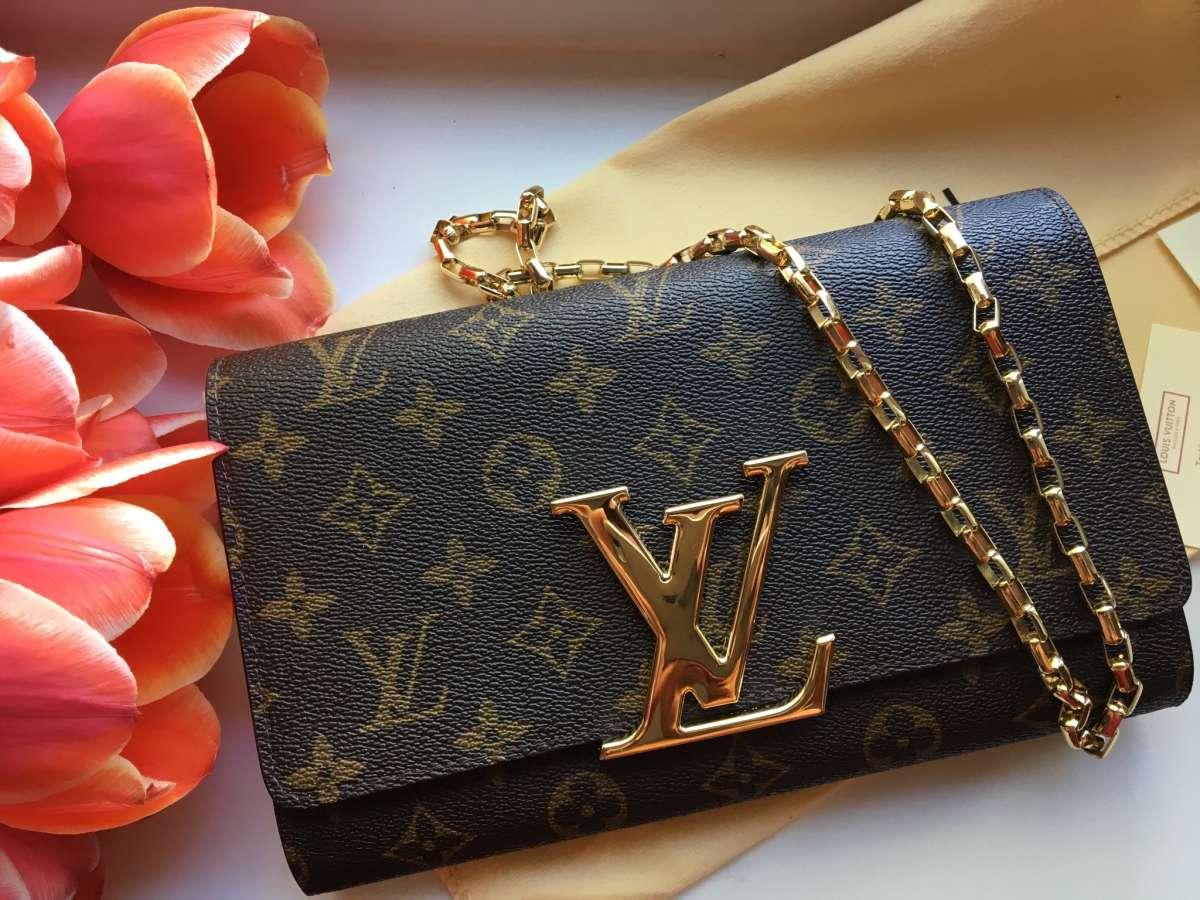 Клатч LV сумочка Louis Vuitton Chain Louise GM Сумка LV Луи Витон