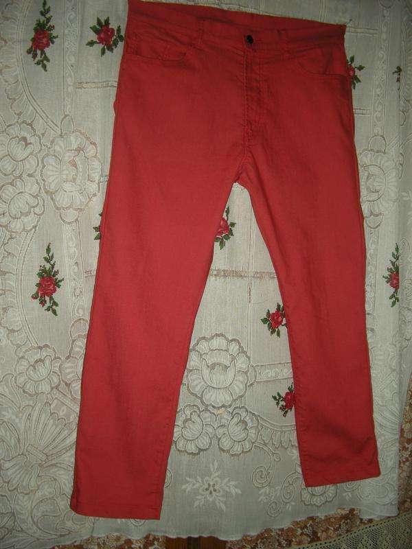 Супер джинсы кораллового цвета р.l