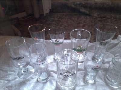 Пивные бокалы.