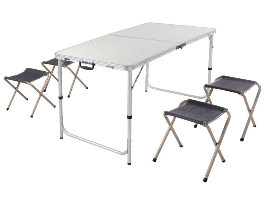 Набор мебели для пикника - стол и 4 стула складывается в чемодан